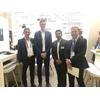(L-R) Bastian Gehnke of Navis, Thiemo Ullrich from Zeaborn, an Yuvraj Thakur and Julien Dufour of Verifavia Shipping at SMM 2018 (Photo: Verifavia)