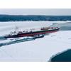 The ATB, tug RONNIE MURPH and barge KIRBY 155-03, departs Fincantieri Bay Shipbuilding in Sturgeon Bay, Wisconsin. (Photo: Fincantieri)
