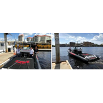 The Dockmate team (left) demonstrated the latest wireless propulsion control technology at IBEX in Tampa last week (Photo: Dockmate)