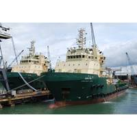 Anchor Handling Tug Supply Vessels Greatship Vidya and Greatship Vimla.