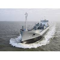 JT Cement's LNG-fuelled cement carried Greenland undergoing sea trials (Photo: Thordon Bearings)