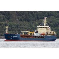 In its former life, Uksnoy Shipping's seismic support vessel Rig Adromeda was a Turkish-built chemical tanker,  converted to an Offshore Service Vessel with a twist: an innovative permanent-magnet propulsion system from Inpower. (Photo courtesy Uksnoy Shipping)