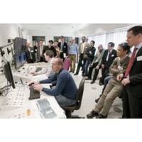 Classification society representatives in the control room during the type test run of ABB Turbocharging's Power2 two stage turbocharger system at the company Technical Center in Baden, Switzerland.