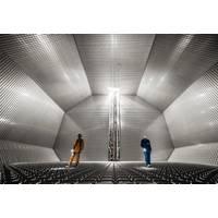 The inside of a GTT cryogenic membrane tank. Photo: Wärtsilä