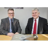 L to R - Dr Kayvan Pazouki of Newcastle University's School of Marine Science & Technology with Lawrence Brown, managing director of Royston Diesel Power. (Photo: Royston)