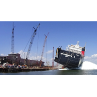 El Coquí launched at the VT Halter Marine shipyard in Pascagoula, Miss. (Photo: Crowley)