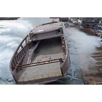 LNG-powered ferry launch: Photo credit Remontowa Shipbuilding