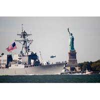 USS Michael Murphy Transits NY Harbor: Photo credit USCG