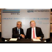 N-KOM's CEO Chandru Rajwani and Dr Henrik O. Madsen, DNV GL's Group President and Chief Executive Officer, signed the memorandum. (Photo: Laurence Tissot)