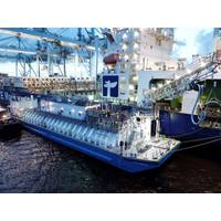 A file photo of the LNG bunker barge Clean Jacksonville at JAXPORT's Blount Island Marine Terminal (Photo: JAX LNG)