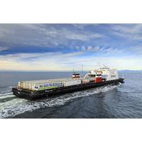 Seaspan Swift, first hybrid LNG fuelled and battery powered vessel in service (Image Courtesy of Seaspan)