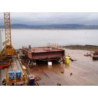 The keel of the third hybrid ferry at Ferguson Marine Engineering (Photo: CMAL)