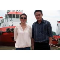 Ms. Tresya and Mr. Rudiyanto with a new-build from the Bahtera Bahari Shipyard. Haig-Brown photos courtesy of Cummins Marine