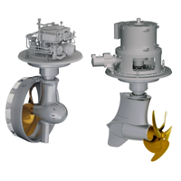 The Schottel Rudderpropeller (SRP), left, and the Schottel EcoPeller (SRE) (Image: Schottel)