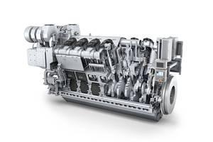 The MAN 32/44CR engine, ordered as a 12V version for Huanghua Port Bureau (Photo: MAN Diesel & Turbo)