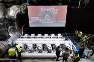 The MAN 45/60CR engine was unveiled in September 2017 at MAN Diesel & Turbo's headquarters in Augsburg, Germany (Photo: MAN Diesel & Turbo)