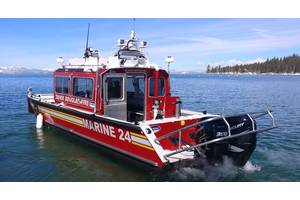 Lake Assault Boats has delivered a new 32-foot fireboat to the Tahoe Douglas Fire Protection District (TDFPD) in Lake Tahoe, Nev. (Photo courtesy of TDFPD.)