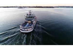 An autonomous ferry during sea trials (ABB)