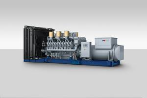 As of autumn 2017, MTU Onsite Energy will be offering a diesel genset with a 10% higher output based on the 20-cylinder Series 4000 engine. The higher output of 3,730 kVA for emergency power applications and 3,390 kVA for prime power is available at temperatures of 50 degrees Celsius.  (Photo: Rolls-Royce)