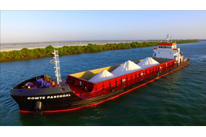 Based on the success of the SXL retrofits, Salinor/Navenor approached Thortech to supply a complete bearing and seal package for the shallow draught bulker Comandante Paschoal (Photo courtesy of Thordon Bearings)