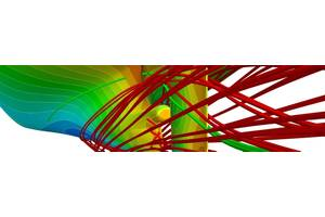 Computational fluid dynamics (CFD) allows to assess the details of the flow. The colors denote the pressure distribution on the hull. Image: DNV GL
