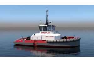 Crowley Maritime Corporation's fully electric eWolf tug Image credit: Crowley Engineering Services