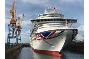 P&O Cruises Ventura completes two-week docking at Damen Shiprepair Brest Photo Damen