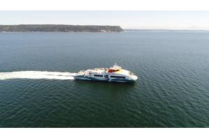 Enetai is a new catamaran ferry due to enter the Kitsap Transit fleet in a few weeks. Photo: BMT