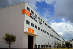 The new factory: Rendering courtesy of Wärtsilä Yuchai Engine Co