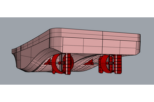 Figure 1 – Pushboat hull (Image: HydroComp)