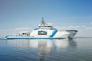 The Finnish Border Guard's patrol vessel the Turva operates with Wärtsilä dual-fuel engines capable of running on Bio LNG fuel. (Photo: Finnish Border Guard)