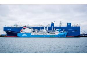 First LNG ship-to-ship operation in the port of Zeebrugge (Photo: Port of Zeebrugge)