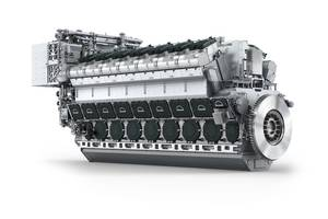 The FM-MAN 14V48/60CR engine (T-AOX will use 2 x 12V46/60CR Engines) (Image: MAN Diesel & Turbo)