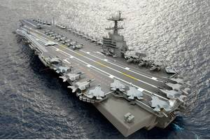 'Ford-Class' Aircraft Carrier: Photo credit HII