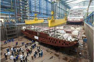 Keel-laying Norwegian Getaway: Photo credit Meyer Werft