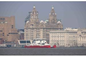 Red Kestrel sea trials April 2019 River Mersey - copyright Cammell Laird