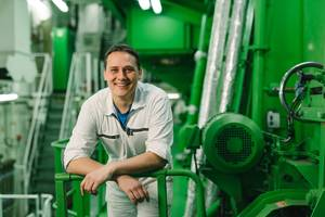 Marcus Nehls is Second Engineer on the Antwerpen Express (Photo: Hapag-Lloyd)