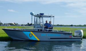 Marine 7, a 21-ft. Comander center console patrol/rescue boat