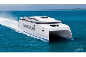 The new Molslinjen high-speed ferry is to be built at the Austal yard in the Philippines and will feature a combination of Wärtsilä propulsion solutions. (Image: Austal Ships Pty Ltd.)