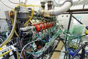 MTU's new gas engine on the test bench (Photo: Rolls-Royce Power Systems)