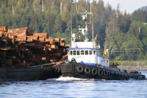 Tug Norman O at work: Photo courtesy of Olson Marine