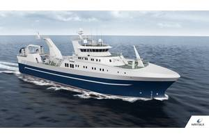 The new optimised stern trawler designed by Wärtsilä will reduce fuel consumption and notably increase overall vessel efficiency compared to currently available designs. Photo Wartsila