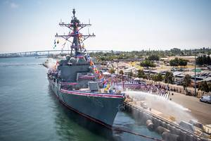 USS Peralta during commissioning San Diego CA 7-29-17-U.S. Navy photo by Mass Communication Specialist 2nd Class Zackary Alan Landers