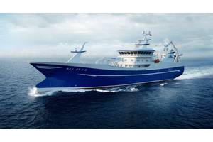 The new purse seiner/trawler being built by the Danish shipbuilder Karstensen Shipyard will be the world's first fishing vessel with the Wärtsilä 31 engine. (Image: Wärtsilä)