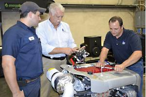 Left to right: Blake Nagim, Rick Granger and Jesse Cuevas participating in the Steyr Motors training session