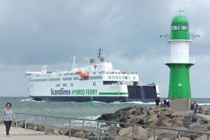 Scandlines' hybrid ferry Berlin will be equipped with a Norsepower rotor sail (Photo: Scandlines)