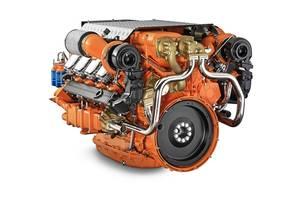 Scania 16 liter V8 EPA Tier 3 engine