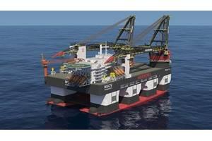 Semi-submersible crane vessel Sleipnir. (Image: GE)