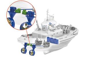Singapore's Sembcorp Marine chose Schottel's azimuthal hybrid drive system SYDRIVE-E for the world's first liquefied natural gas (LNG) hybrid tug. Image courtesy Schottel