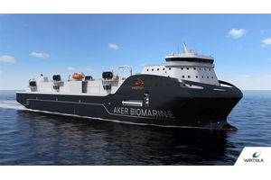 The new state-of-the-art Aker BioMarine support vessel is designed by Wärtsilä and fitted with an integrated package of propulsion and environmental systems. (Photo: Aker BioMarine)